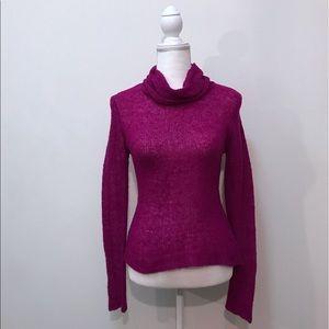 Free People Magenta Purple Crochet Sweater XS